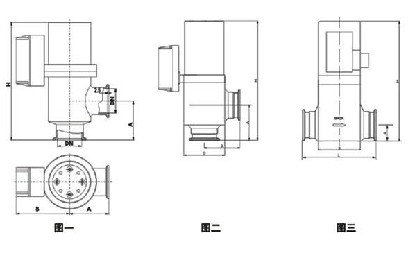 GDC-J/Z型电磁高真空挡板阀